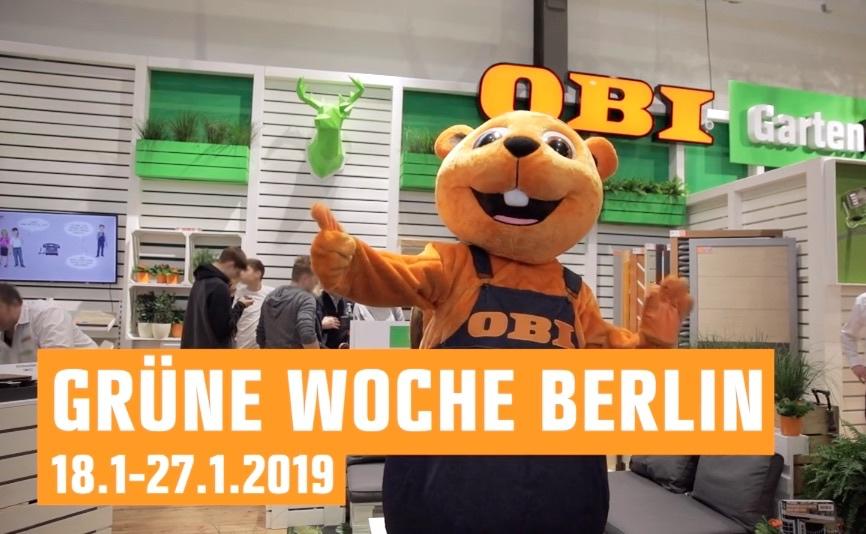 """Screenshot aus dem Messefilm für OBI von der """"Grünen Woche"""" 2019 in Berlin"""
